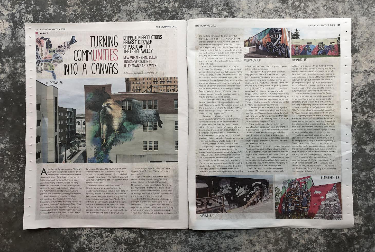 morning-call-newspaper-dripped-on-article-city-center-allentown